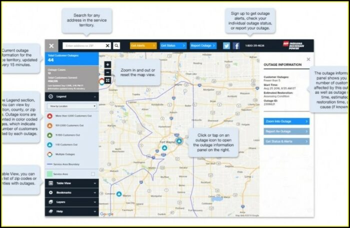 Aep Power Outage Map South Bend Indiana