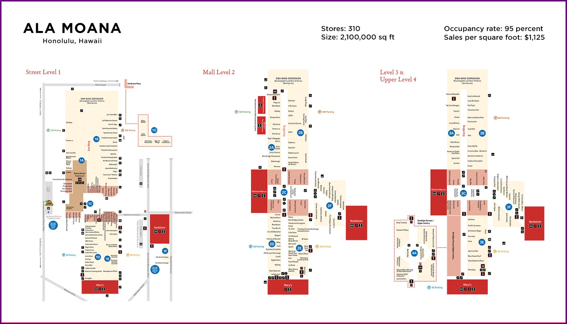 Ala Moana Mall Map