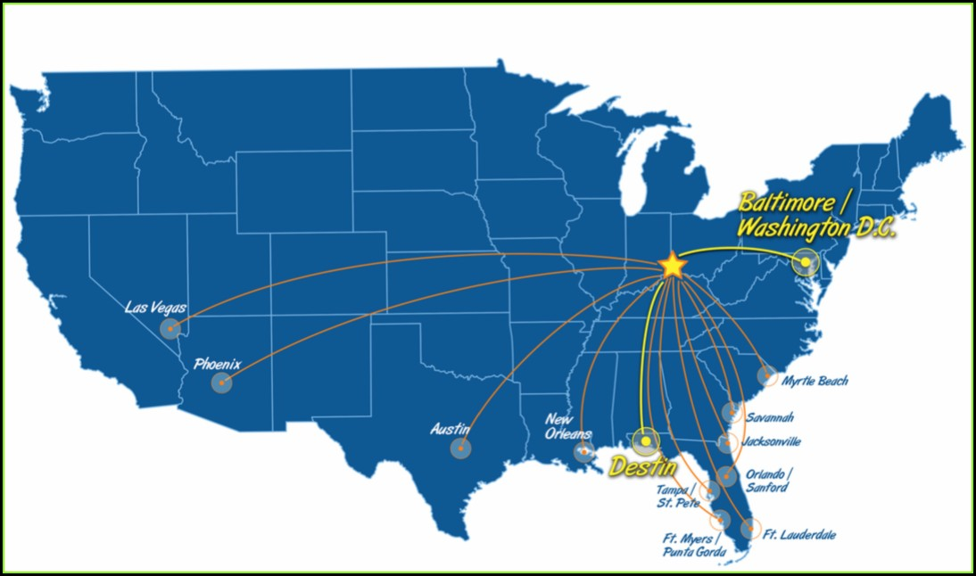 Allegiant Air Route Map 2018