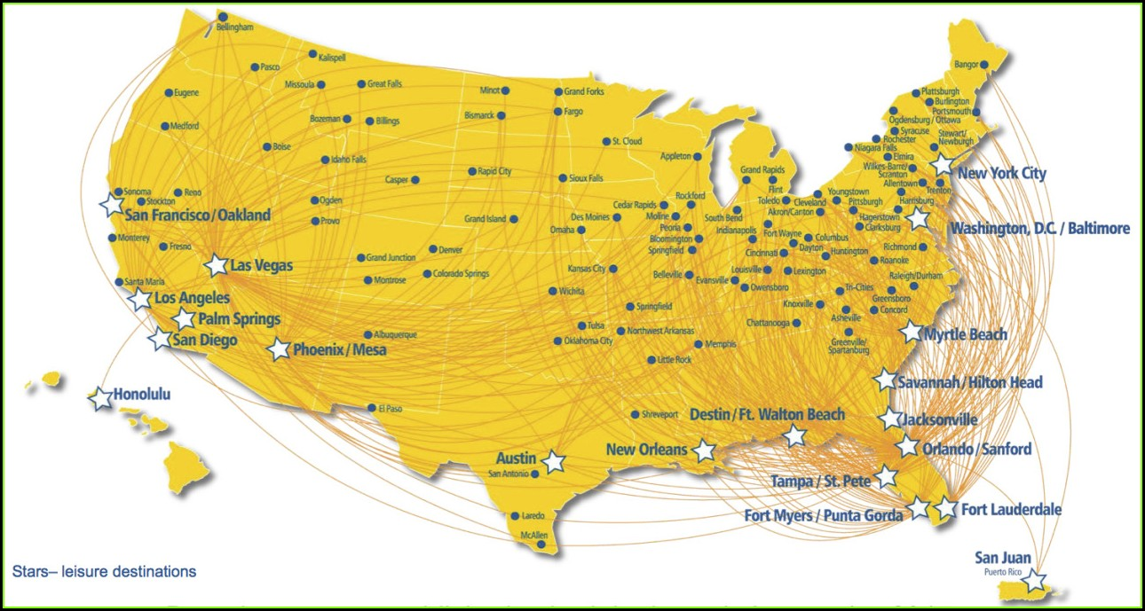 Allegiant Air Route Map 2019