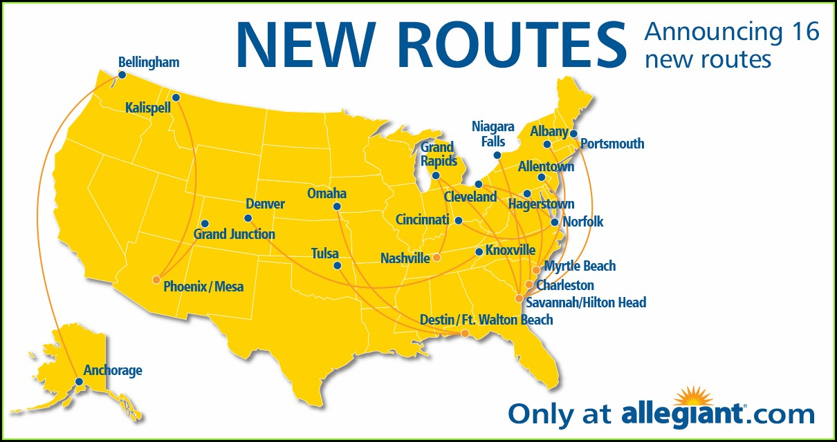 Allegiant Airlines Allegiant Air Route Map