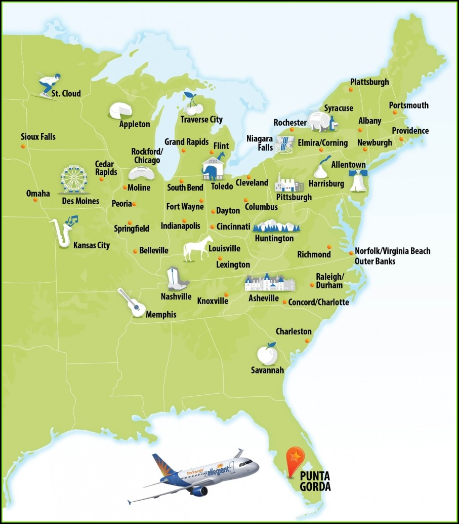 Allegiant Route Map Interactive