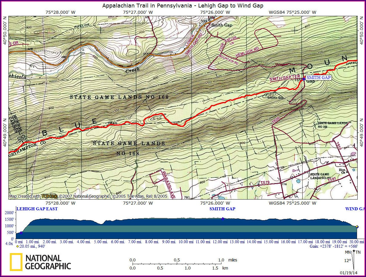 Appalachian Trail Map Pa Pdf