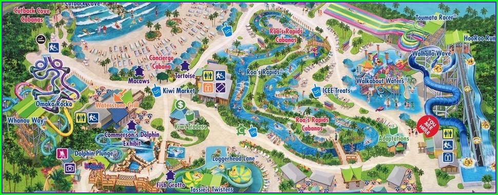 Aquatica Orlando Map 2019