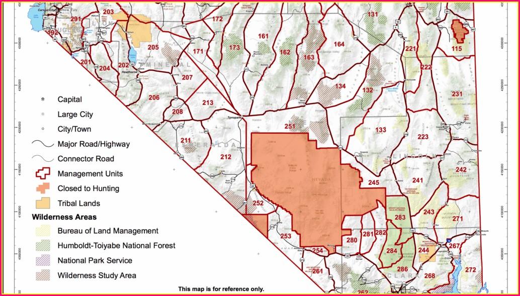 Area Nevada Hunt Unit Map