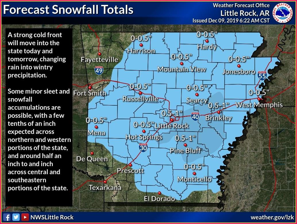 Arkansas Weather Map Temperatures