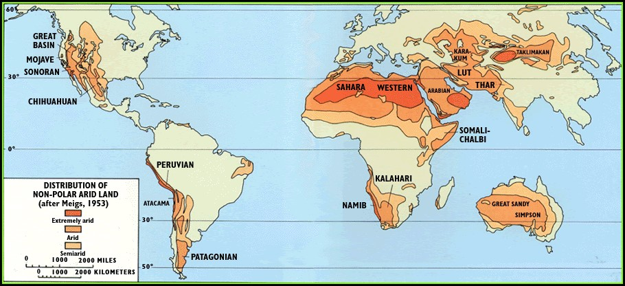 Atacama Desert On World Map