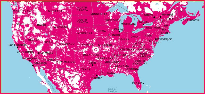 Att Coverage Map Vs T Mobile