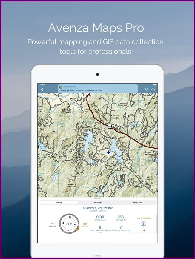 Avenza Maps Apple Watch