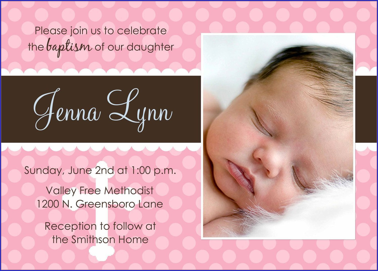 Baby Boy Invitation Card For Christening