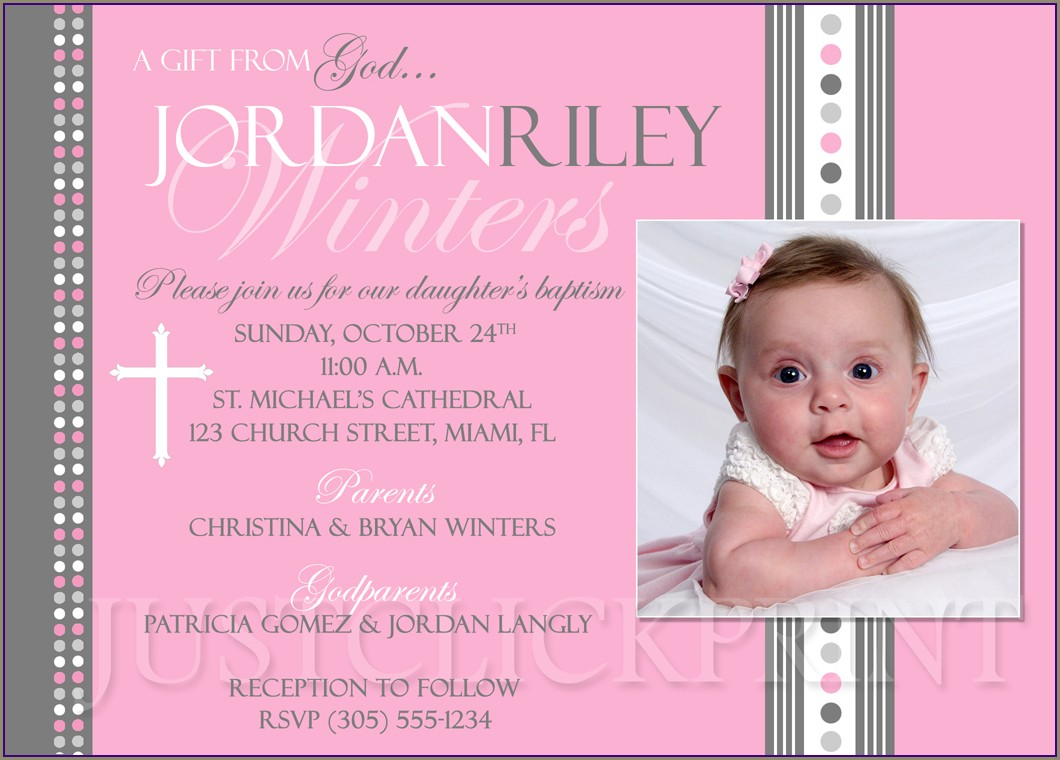 Baby Dedication Invitations Online