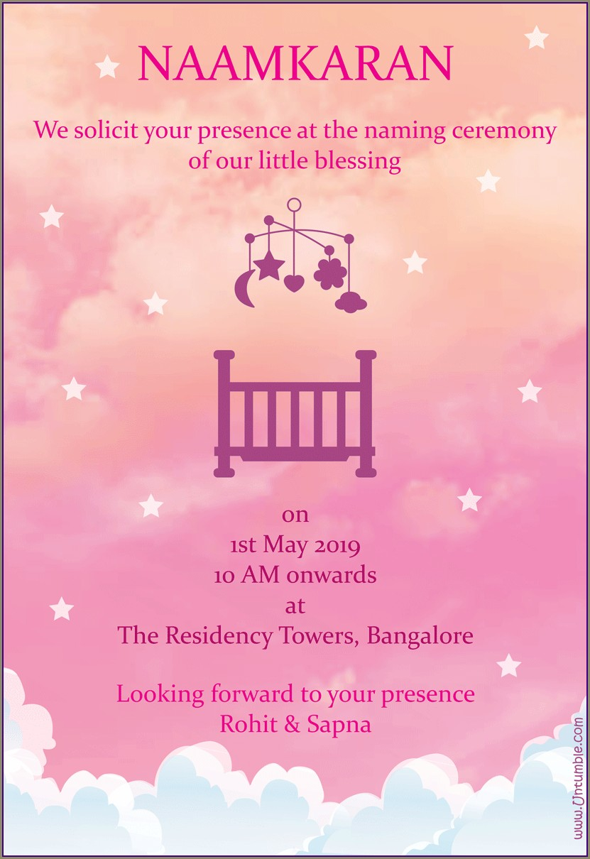 Baby Girl Naming Ceremony Invitation Quotes (2)