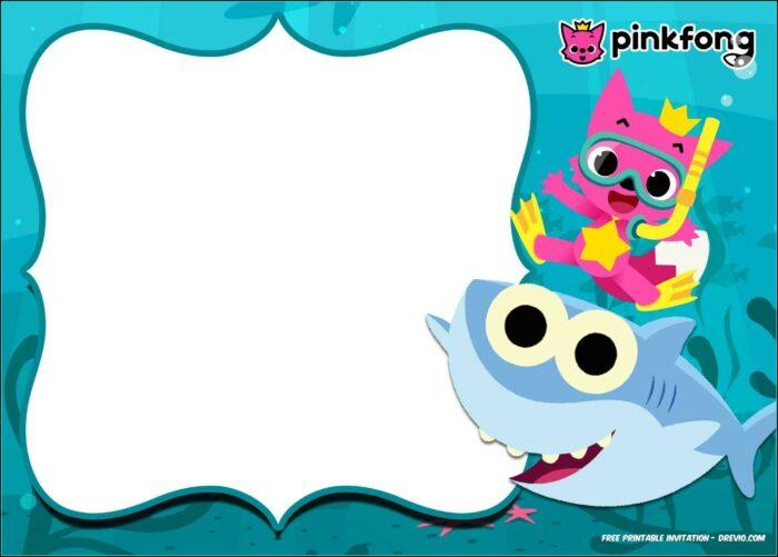 Baby Shark Birthday Invitation Template
