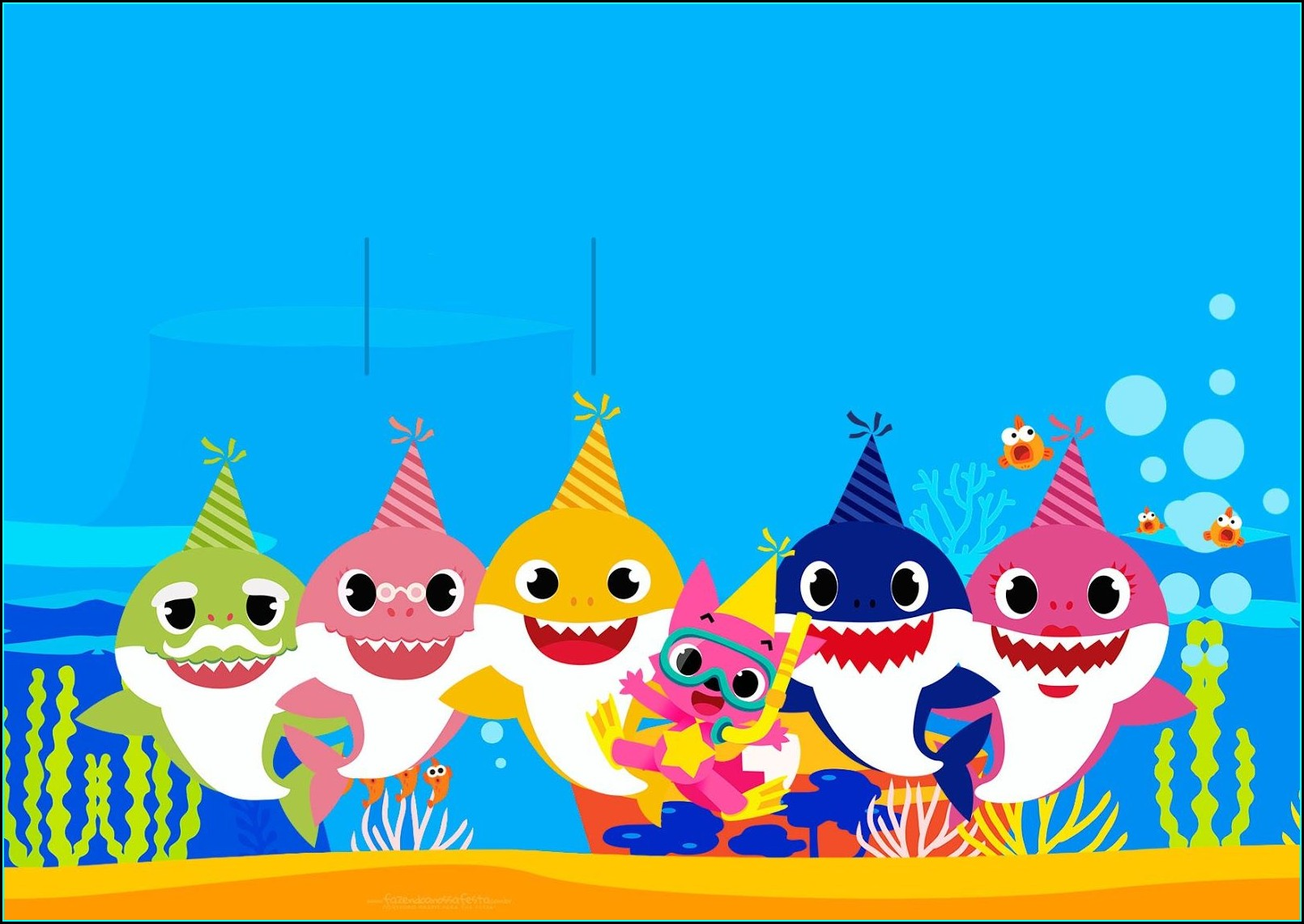 Baby Shark Printable Birthday Invitations