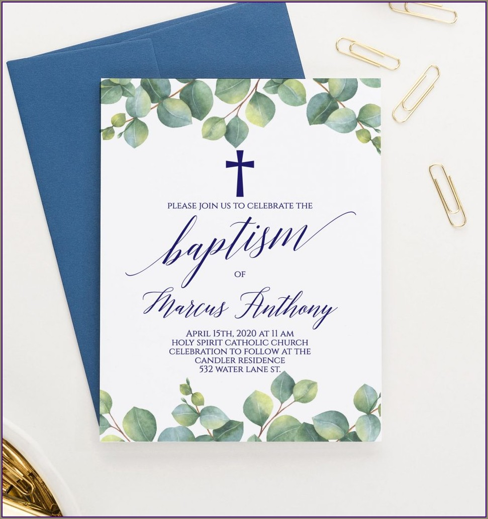 Baptism Invitations Boy And Girl