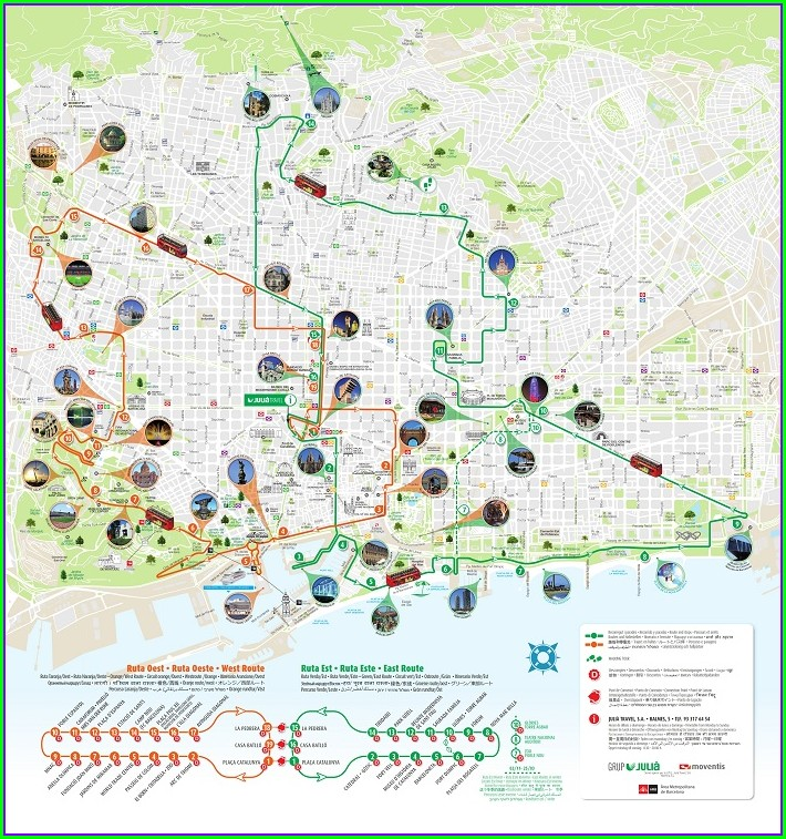 Barcelona Hop On Hop Off Map Pdf