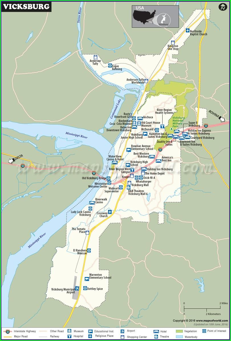 Battle Of Vicksburg Map Location