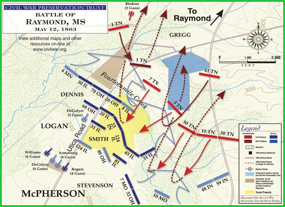 Battlefield Battle Of Vicksburg Map