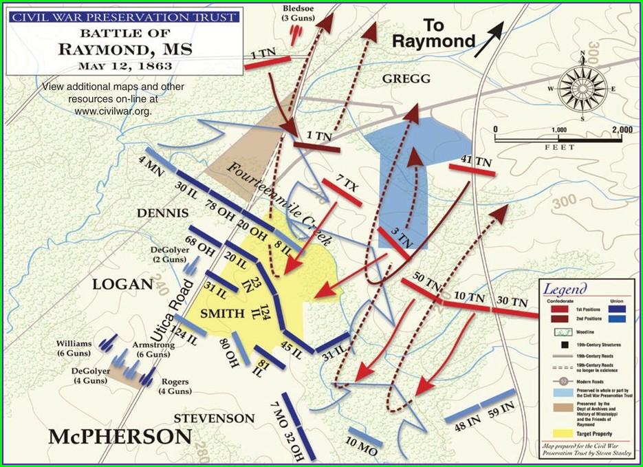 Battlefield Battle Of Vicksburg Map