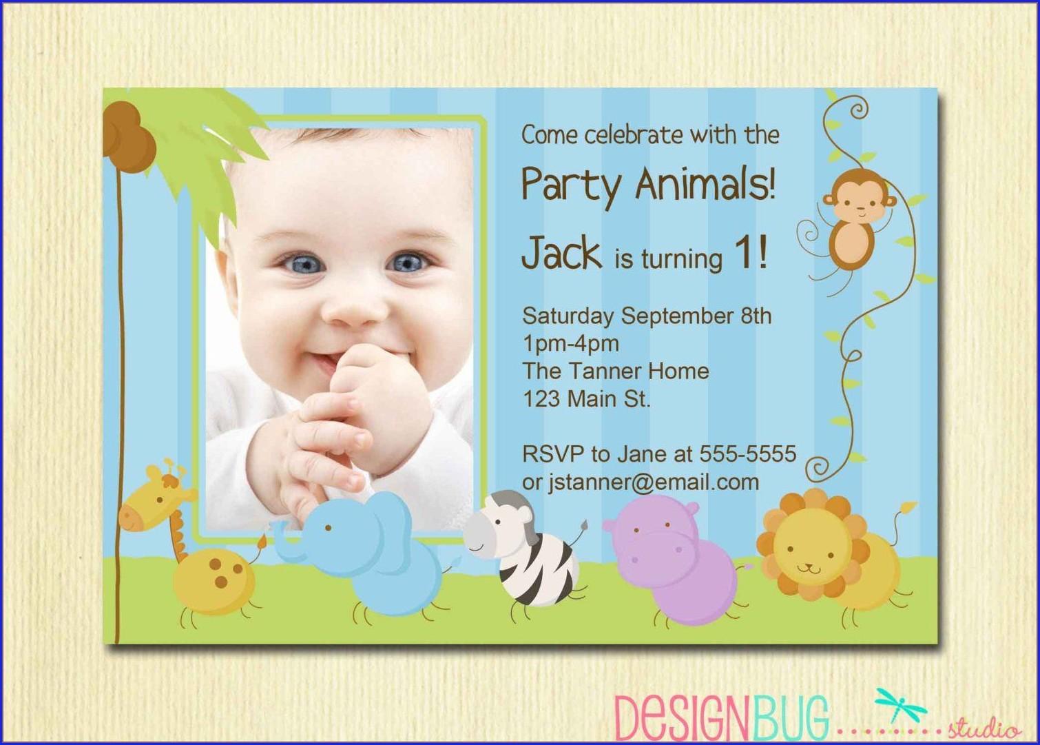 Birthday Invitation Card Baby Boy