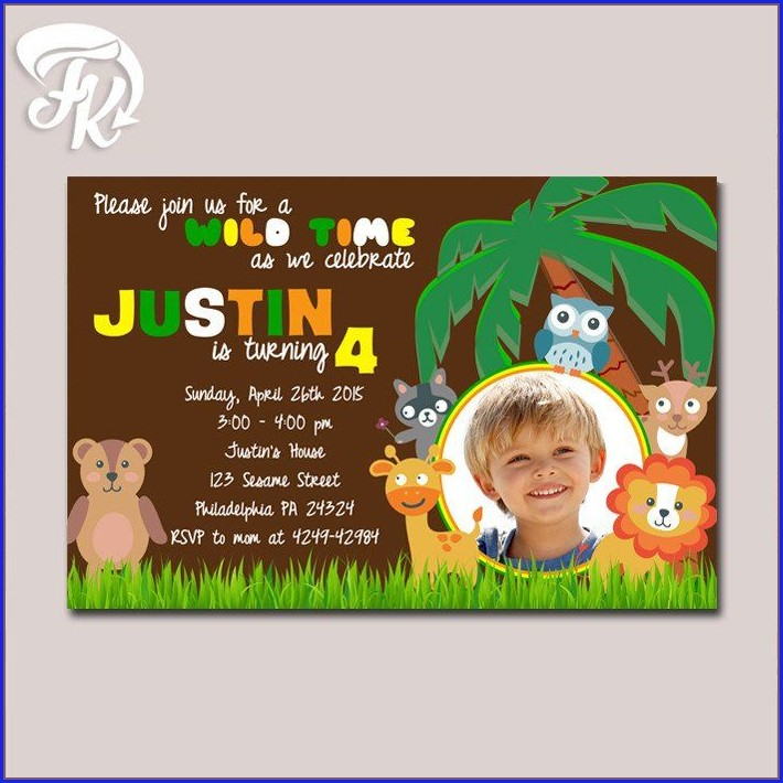 Birthday Invitation Card Design With Photo