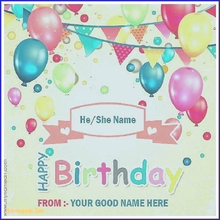 Birthday Invitation Card With Photo And Name
