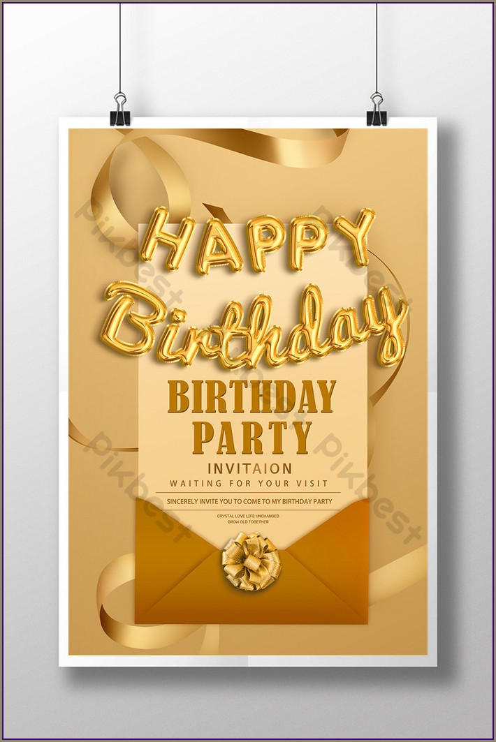 Birthday Invitation Poster Free