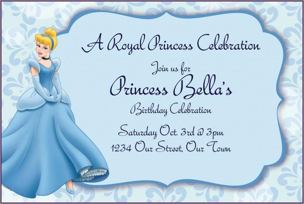 Blank Cinderella Invitation Card