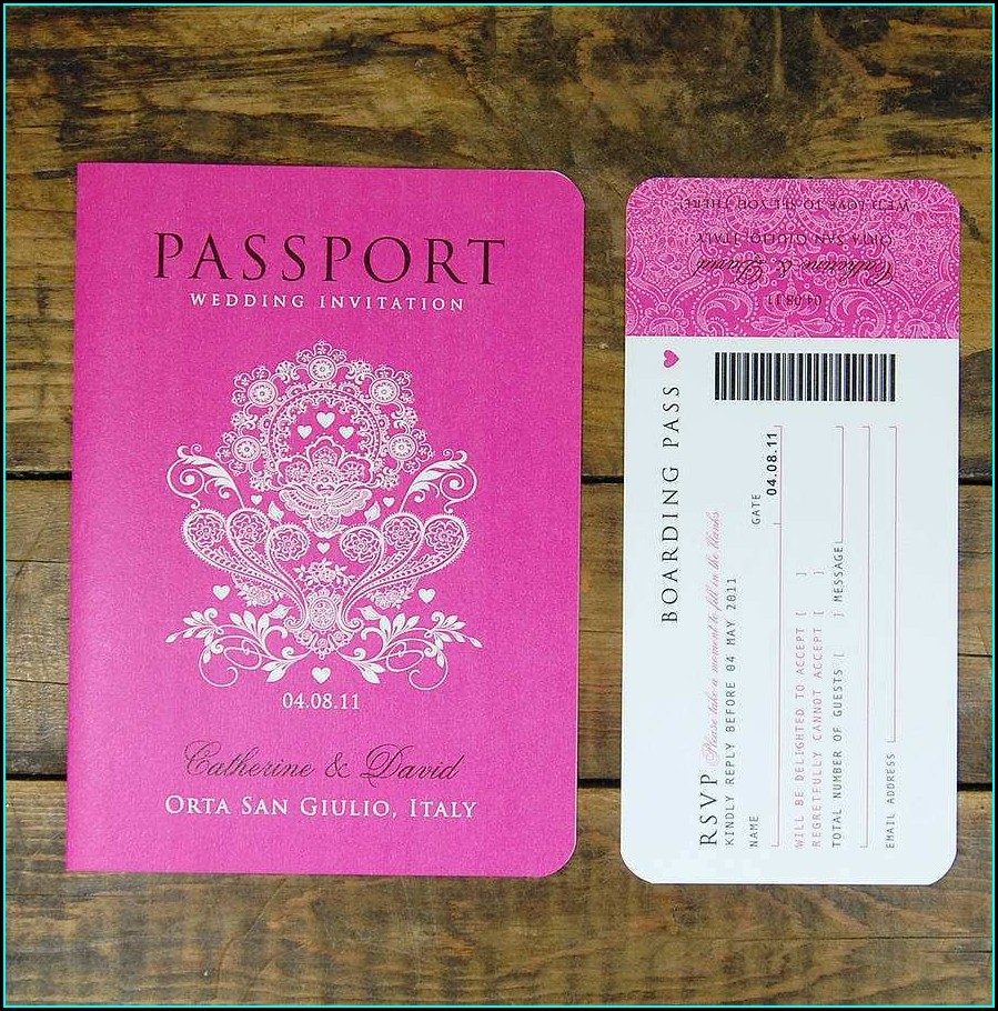 Blank Printable Passport Invitation Template