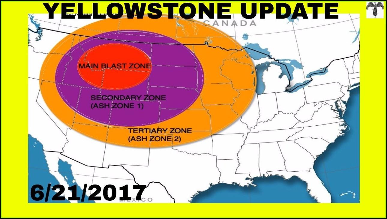 Blast Radius Yellowstone Supervolcano Map