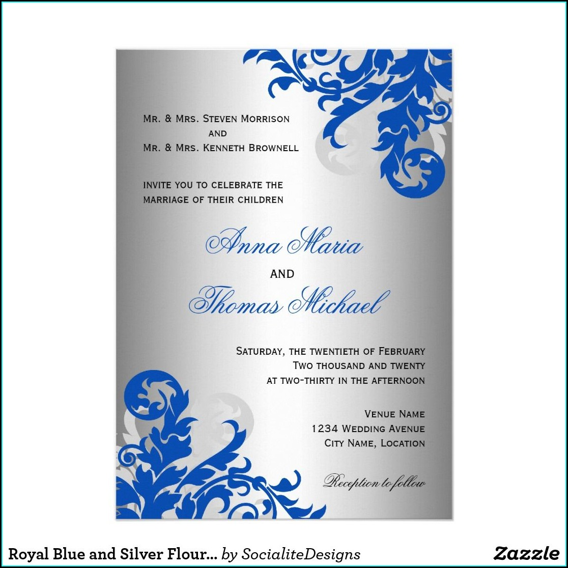 Blue Design Royal Blue Wedding Invitation Card Background Images