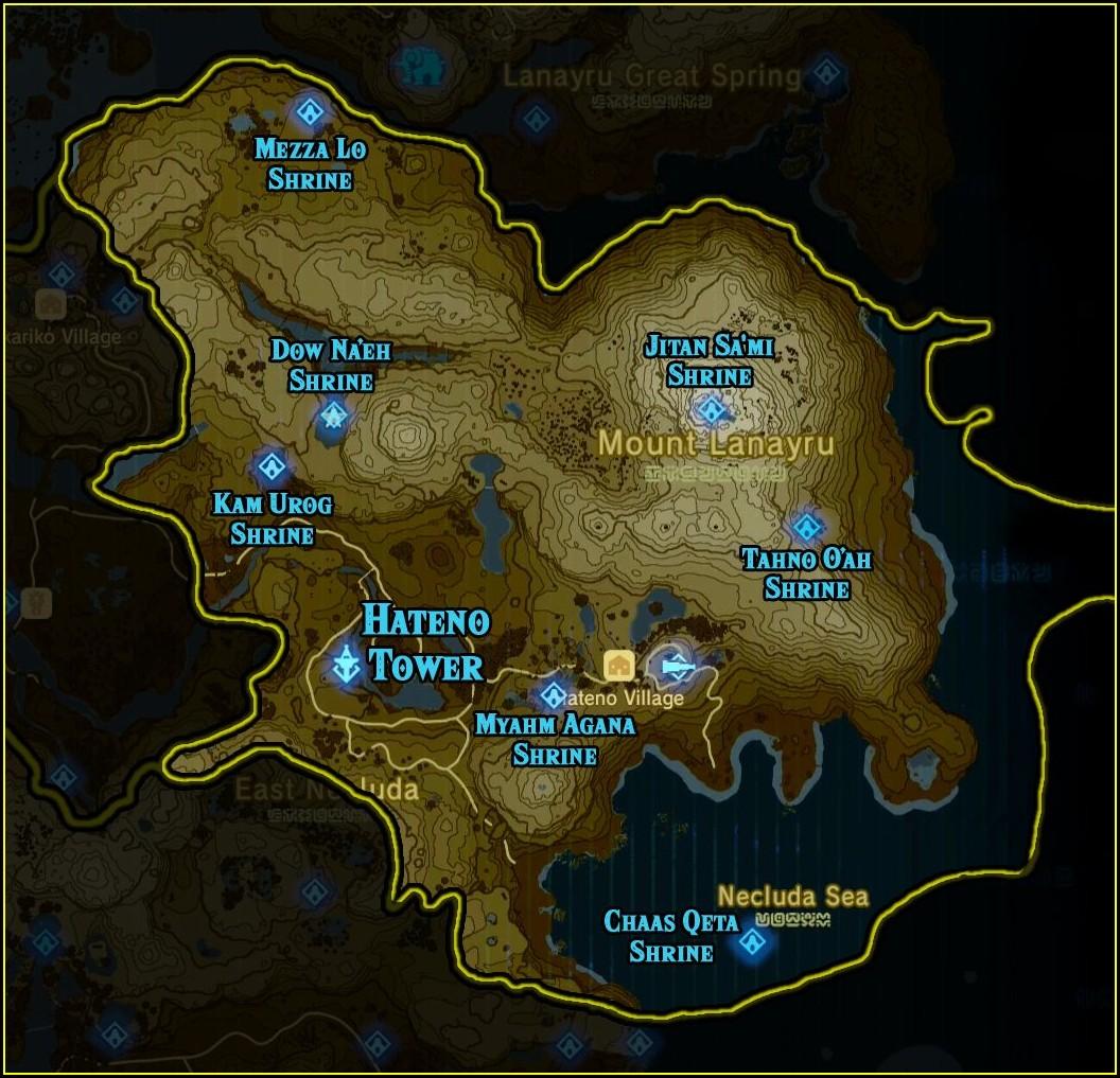 Botw Shrine Map By Region