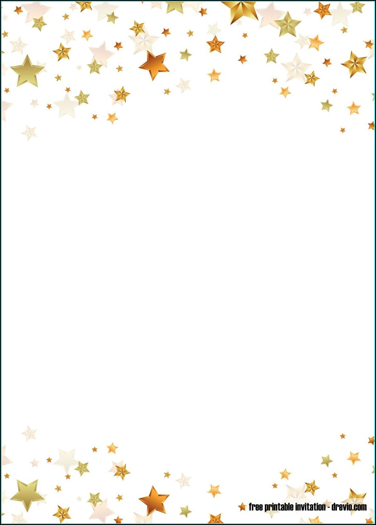 Boy Blank Twinkle Twinkle Little Star Invitation Template Free