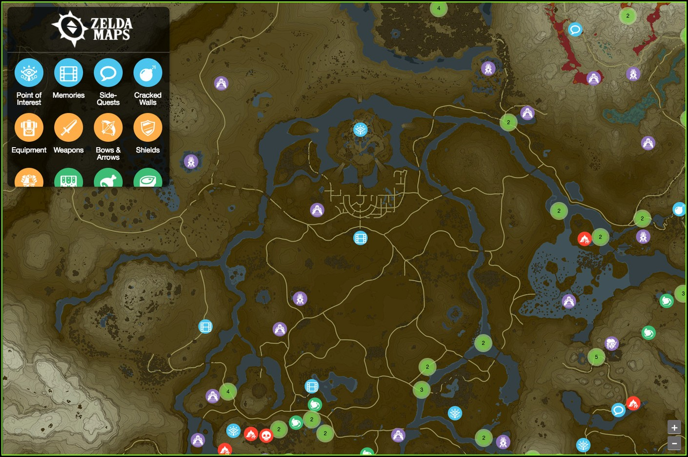 Breath Of The Wild Interactive Map Download