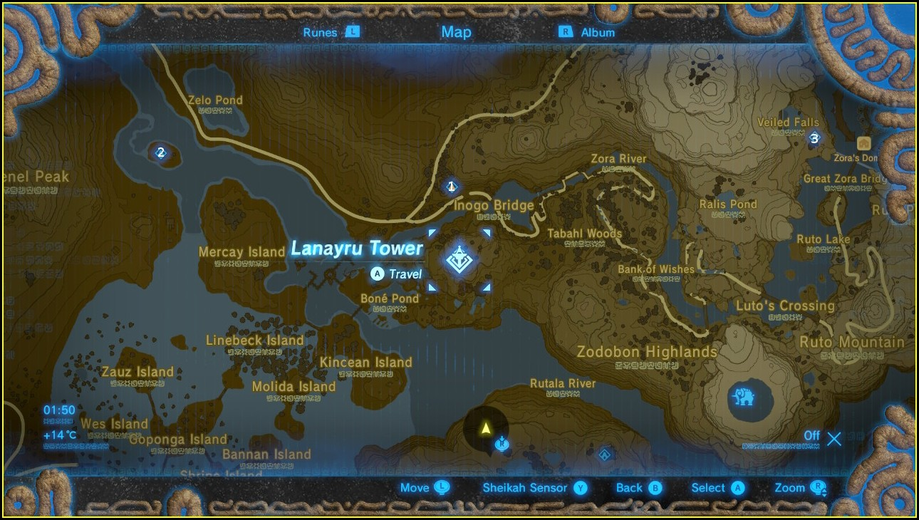 Breath Of The Wild Shrine Map Lanayru