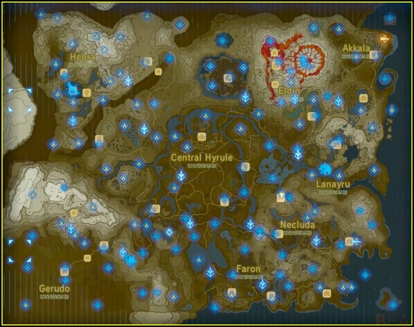 Breath Of The Wild Shrine Map Pdf