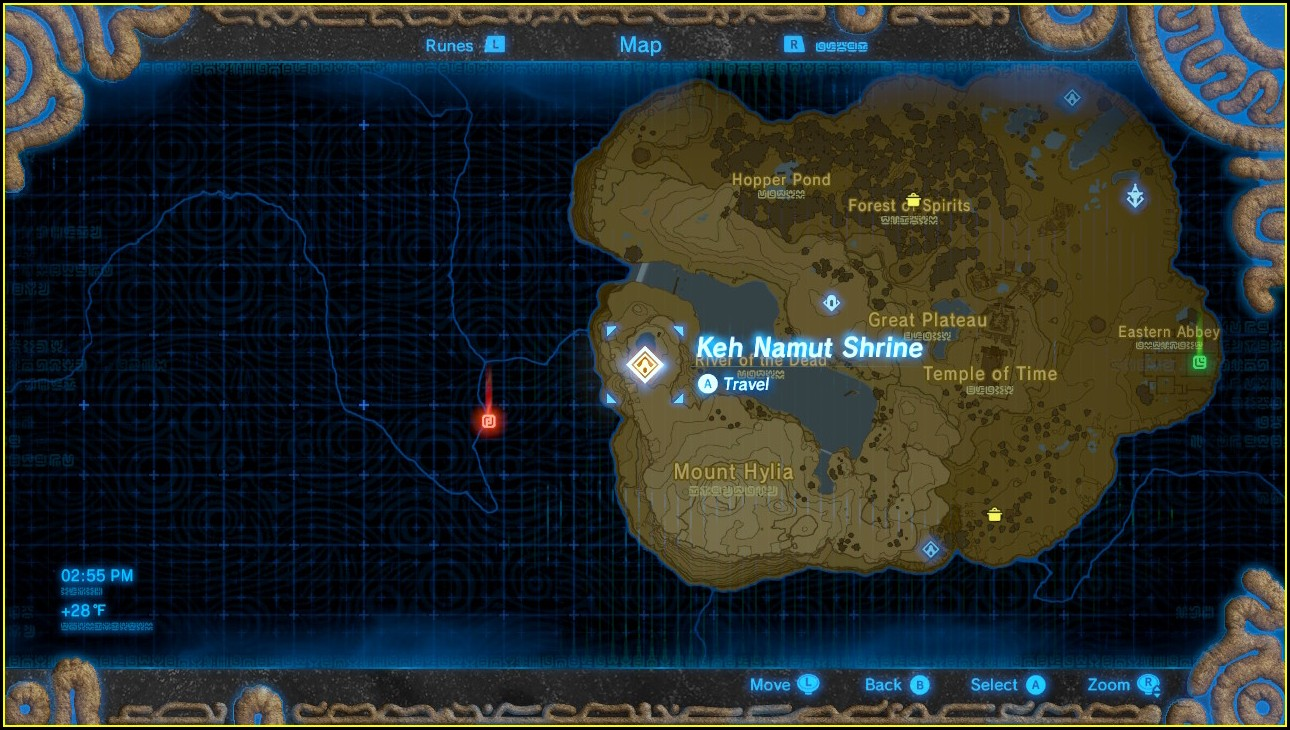 Breath Of The Wild Shrine Map Plateau