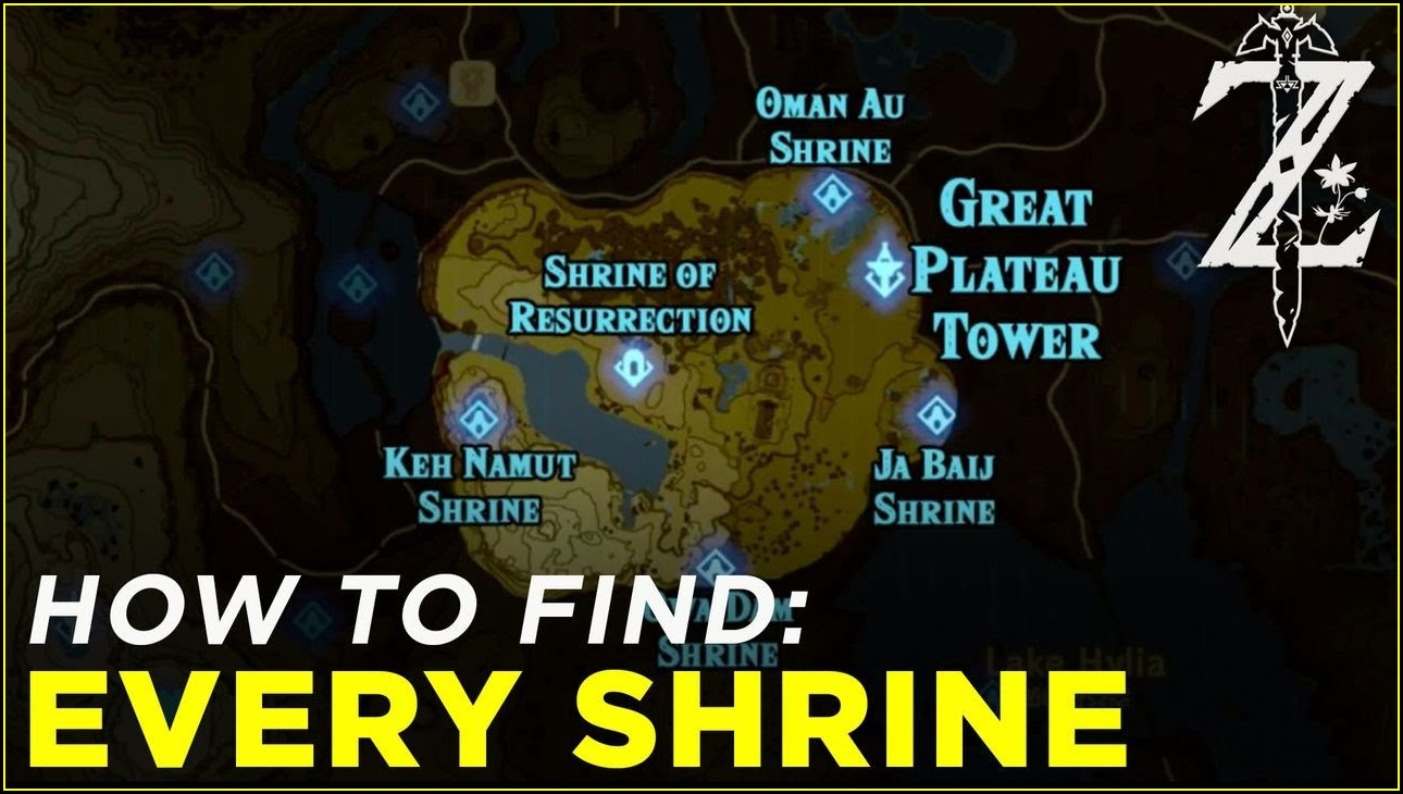 Breath Of The Wild Shrine Map