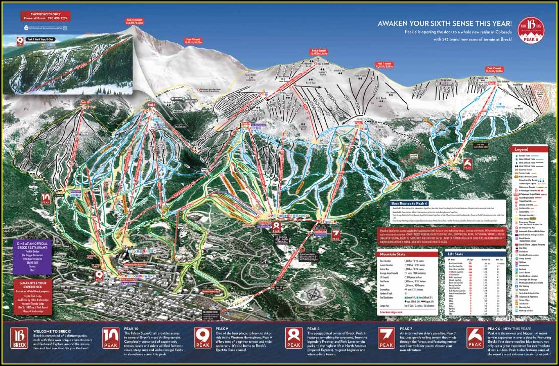 Breckenridge Ski Trail Map