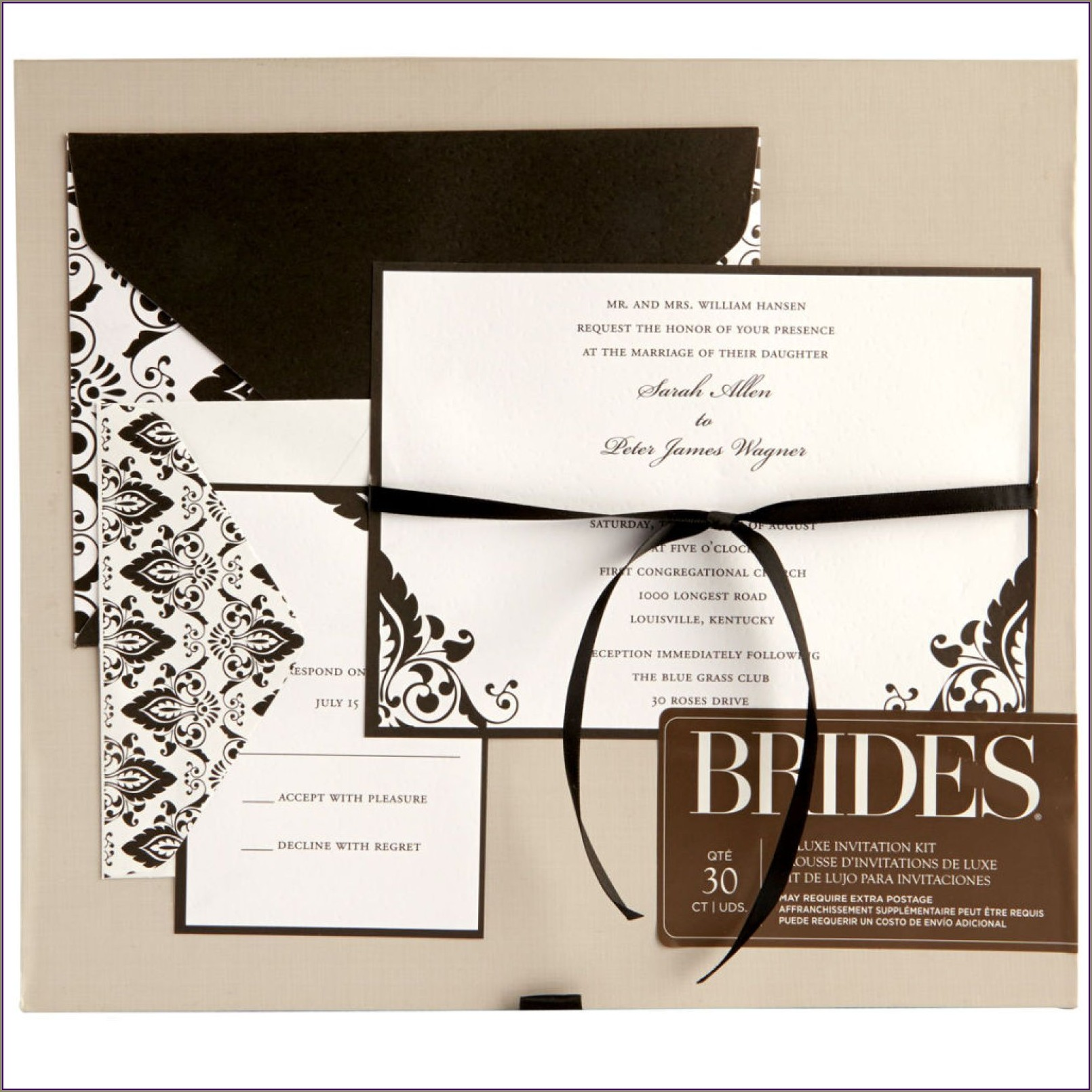 Brides Premium White Invitation Kit