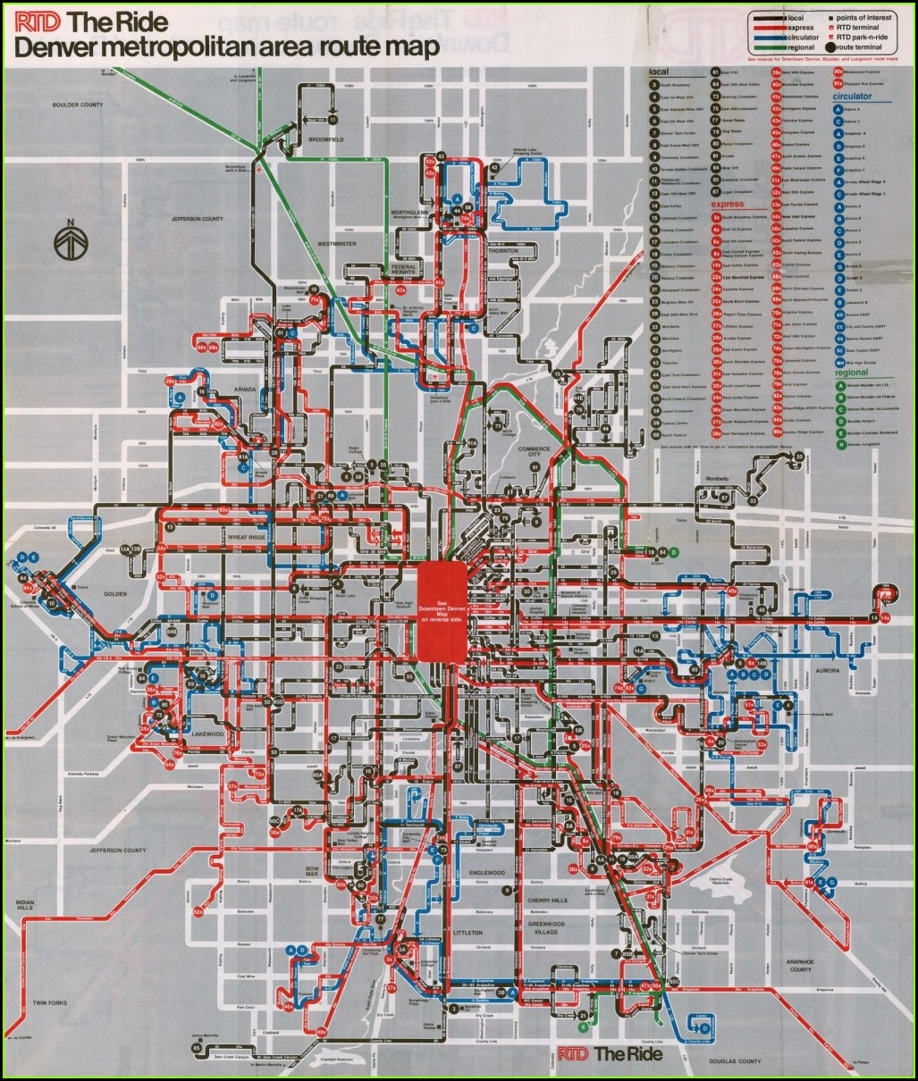 Bus Rtd Denver Map