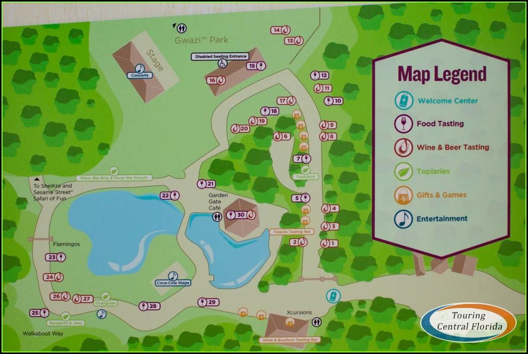 Busch Gardens Map Tampa 2018