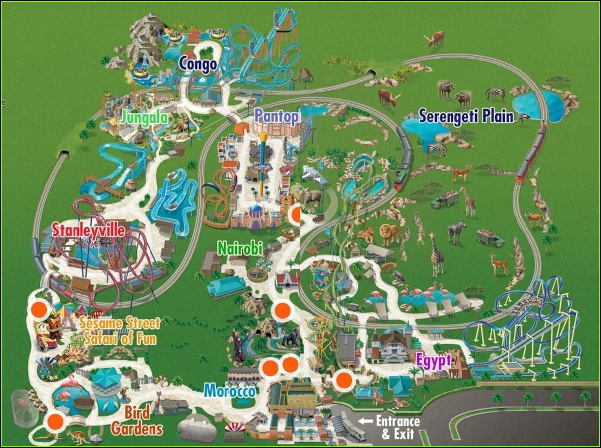 Busch Gardens Tampa Map 2019 Pdf