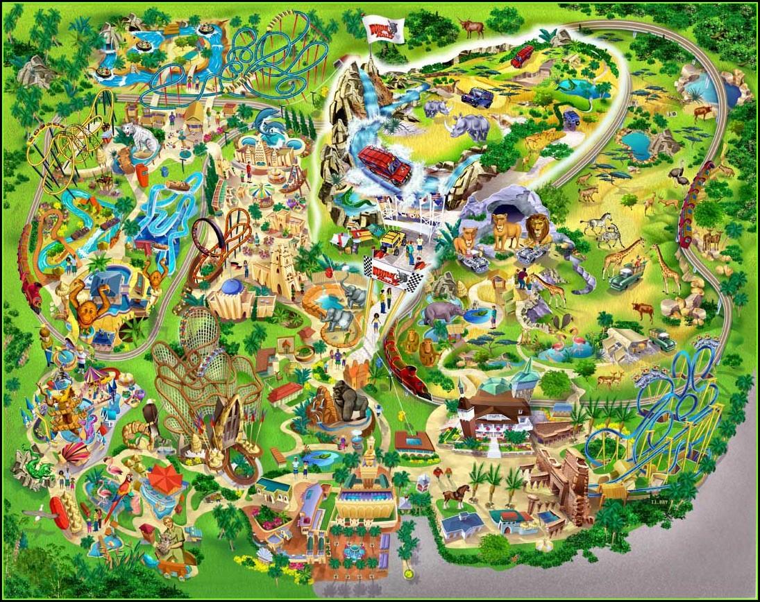 Busch Gardens Tampa Map Pdf