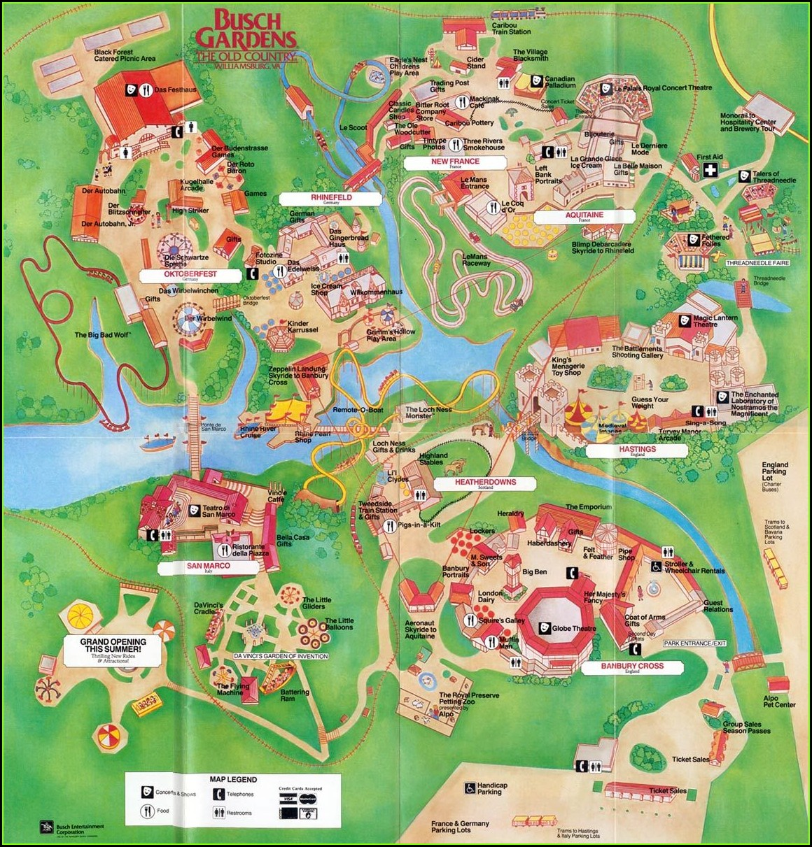 Busch Gardens Williamsburg Map 2017