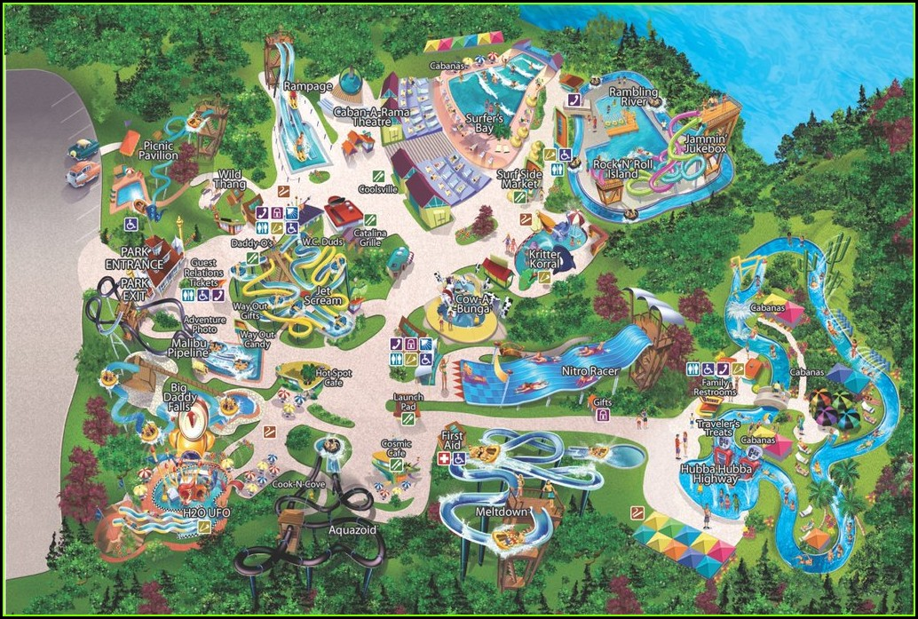 Busch Gardens Williamsburg Printable Map