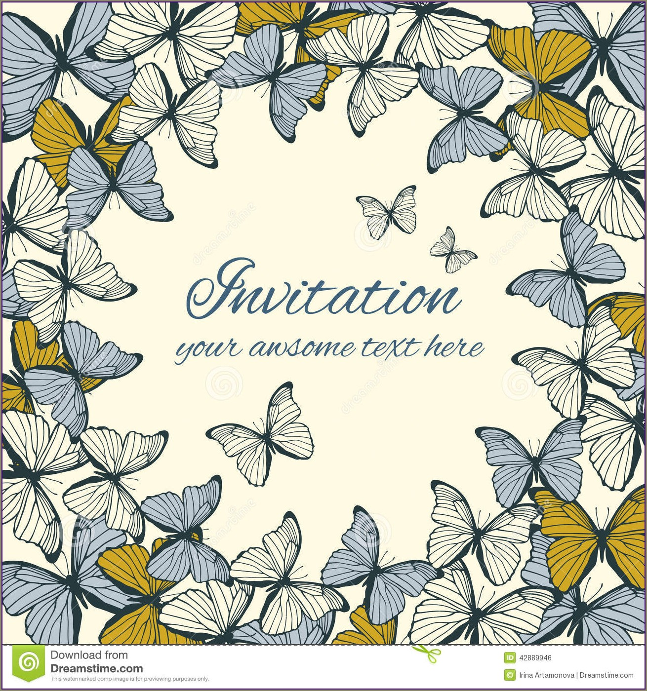 Butterfly Invitation Card Template