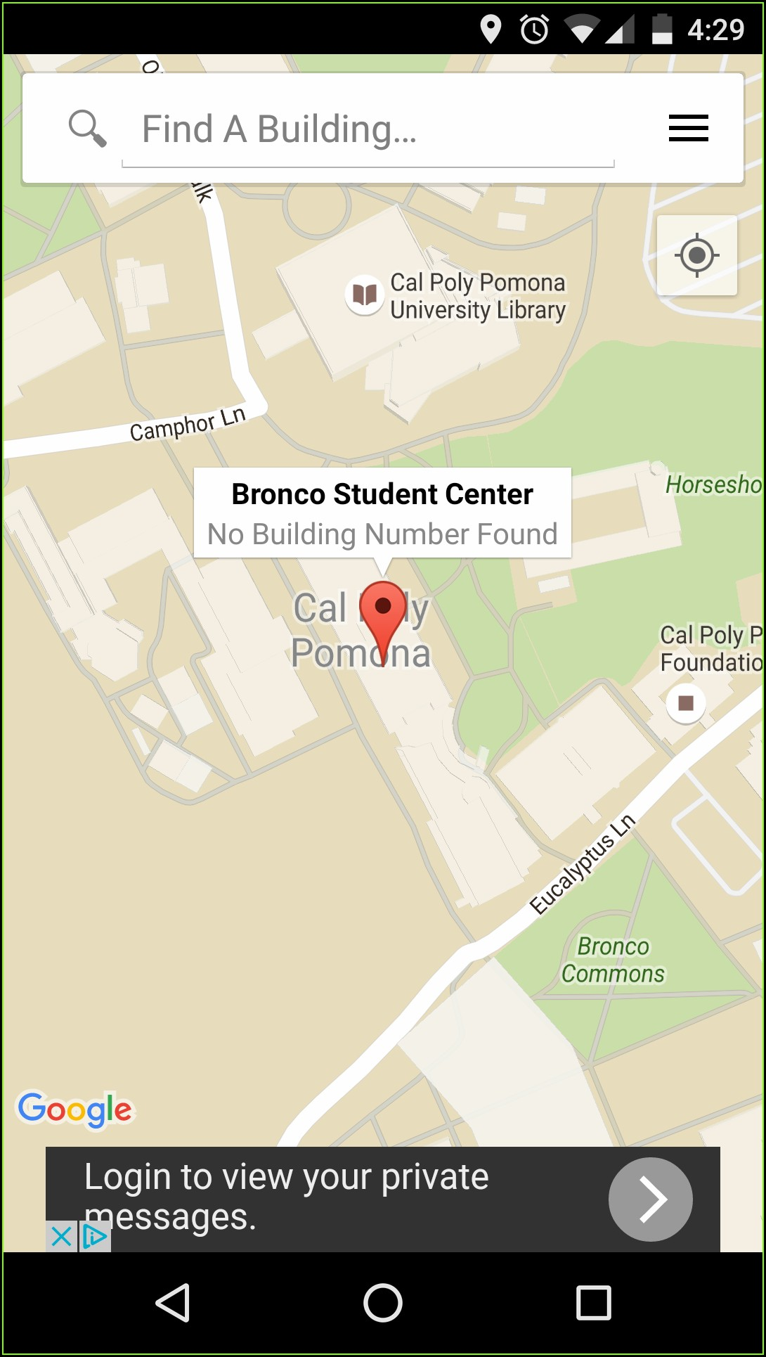 Cal Poly Pomona Map Building 4