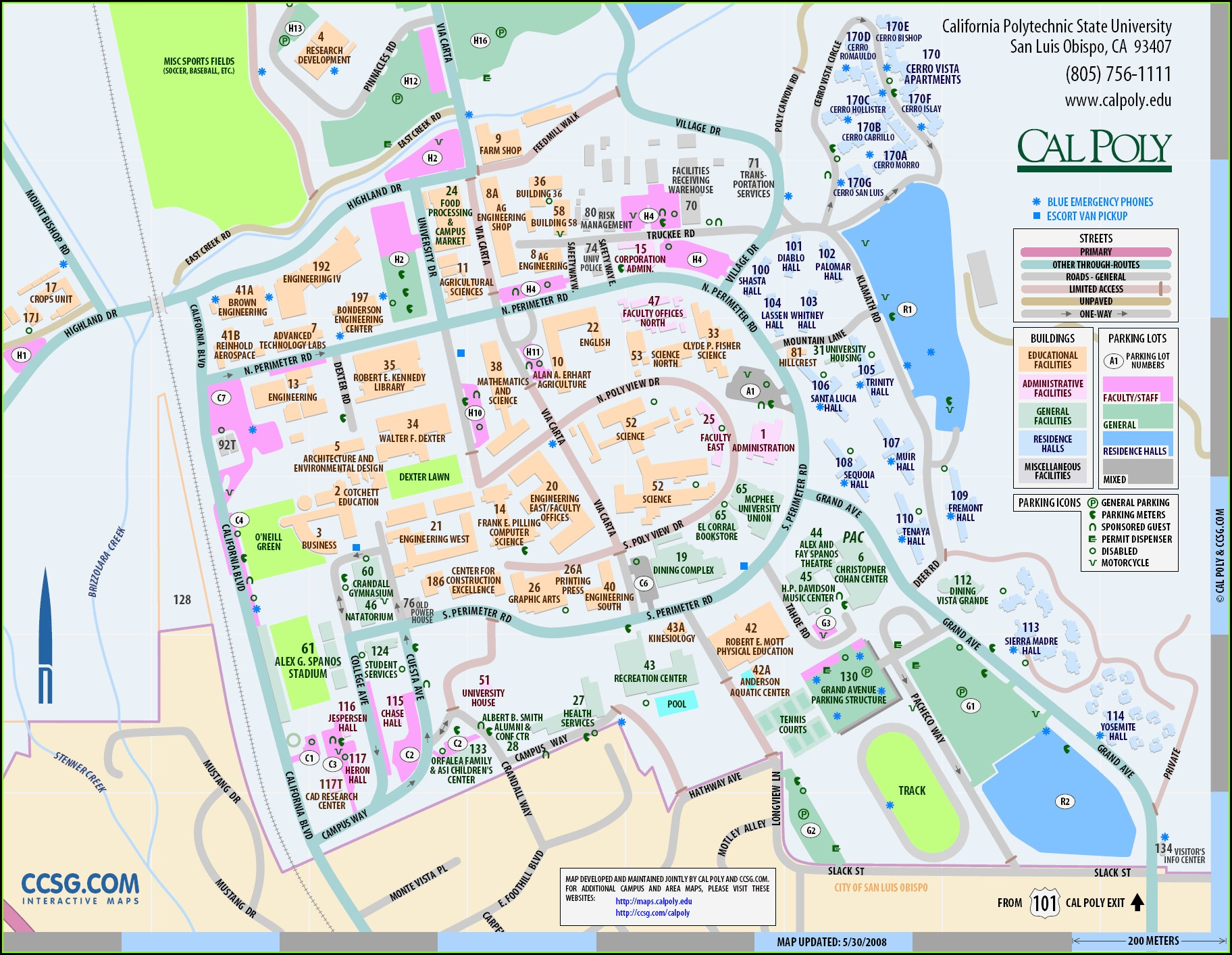 Cal Poly Pomona Map Buildings