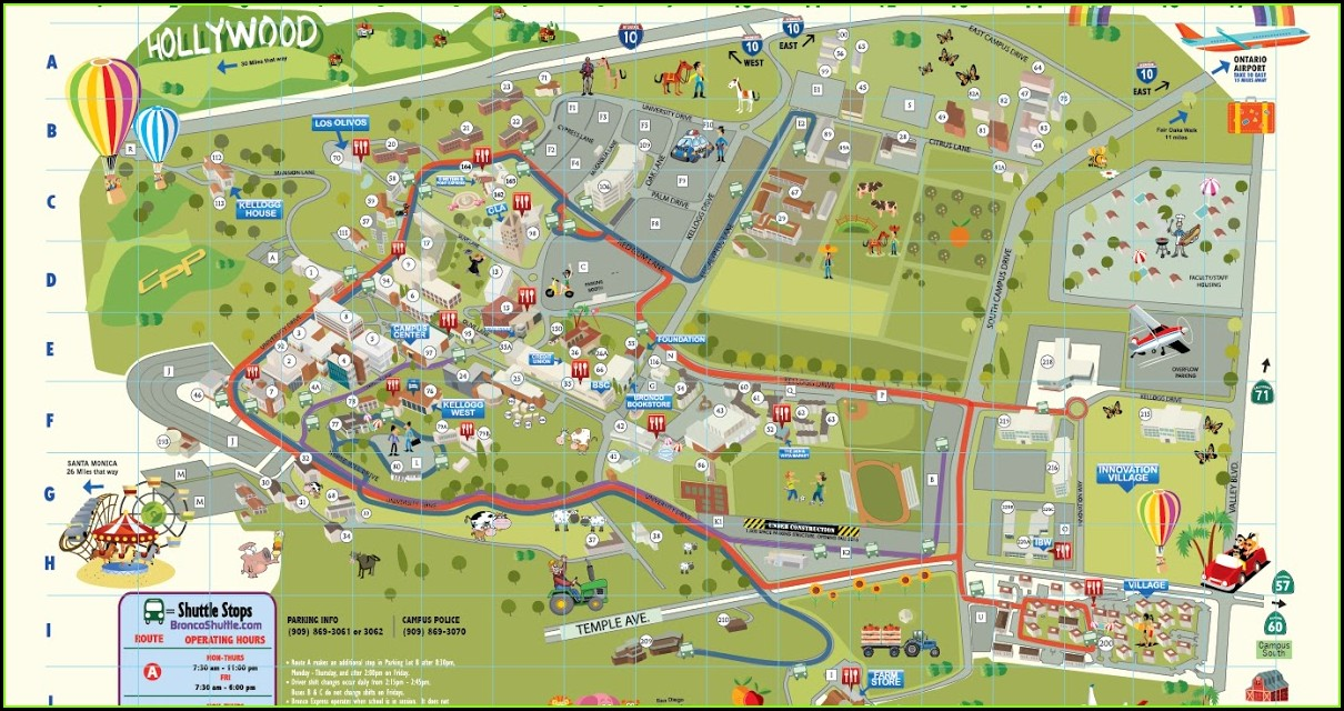 Cal Poly Pomona Map